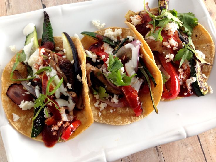 33 best vegetarian mexican south american caribbean recipes flavorful vegetable tacos made with poblano peppers mushrooms and onions with a hint of lime forumfinder Gallery