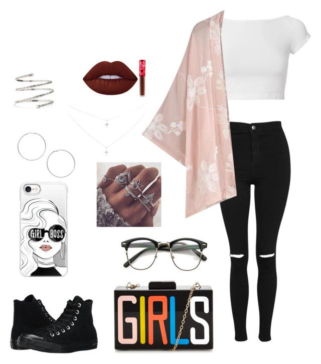 """❤️"" by loveiskeybeu on Polyvore featuring Helmut Lang, Topshop, Converse, Casetify, Miss Selfridge, Venus and Lime Crime"