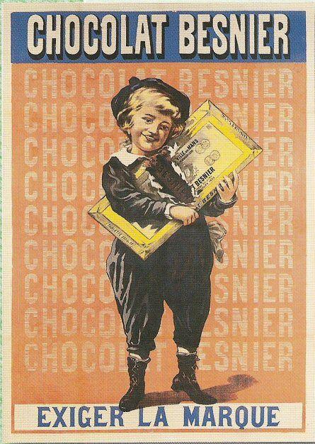 Pub retro CHOCOLAT BESNIER EXIGER LA MARQUE