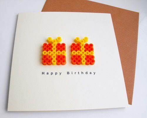 Leuk als verjaardagskaart, maar ook leuk om een grote versie te maken en te gebruiken voor een verjaardagskalender.
