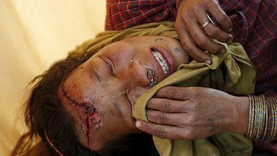 Žena zraněná po sobotním zemětřesení