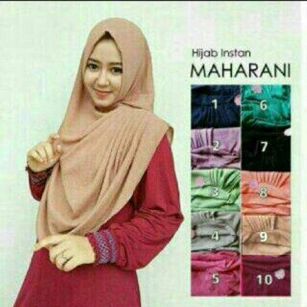 Hijab Instan Maharani Model 2017 terbaru Harga Murah dilengkapi dengan variasi rempel samping, dan bahan diamond georgette sehingga tidak mudah kusut