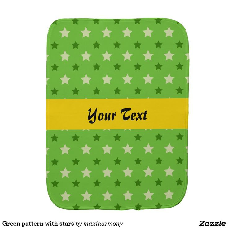 Green pattern with stars burp cloths