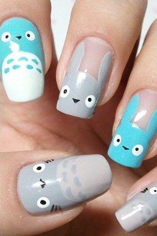 Este saludo a Totoro: | 25 tutoriales de arte en uñas gloriosamente geeks