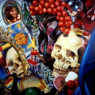 Vanitas Revamped Colour Pencil Drawing- look at Dutch Vanita artists as well as modern and contemporary still-life artists - particularly the works of Audrey Flack,Thiebaud and Ricky Swallow