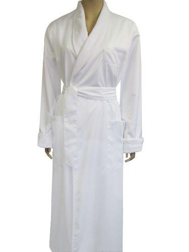 luxury white bath robe