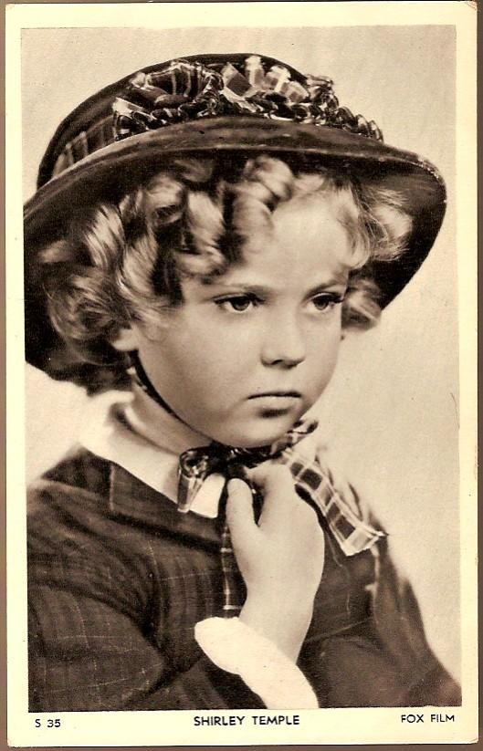 Vintage Post Card Hollywood Actress Shirley Temple - Find Shirley Temple dolls, dresses, and vintage collectibles at www.rubylane.com @rubylanecom