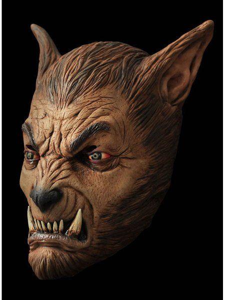 """https://11ter11ter.de/55516264.html Latex Überziehmaske """"Werwolf"""" (Braun) für Erwachsene #11ter11ter #Maske #Latex #Tiermaske #Tier #Mask #Animal #Kostüm #Halloween"""