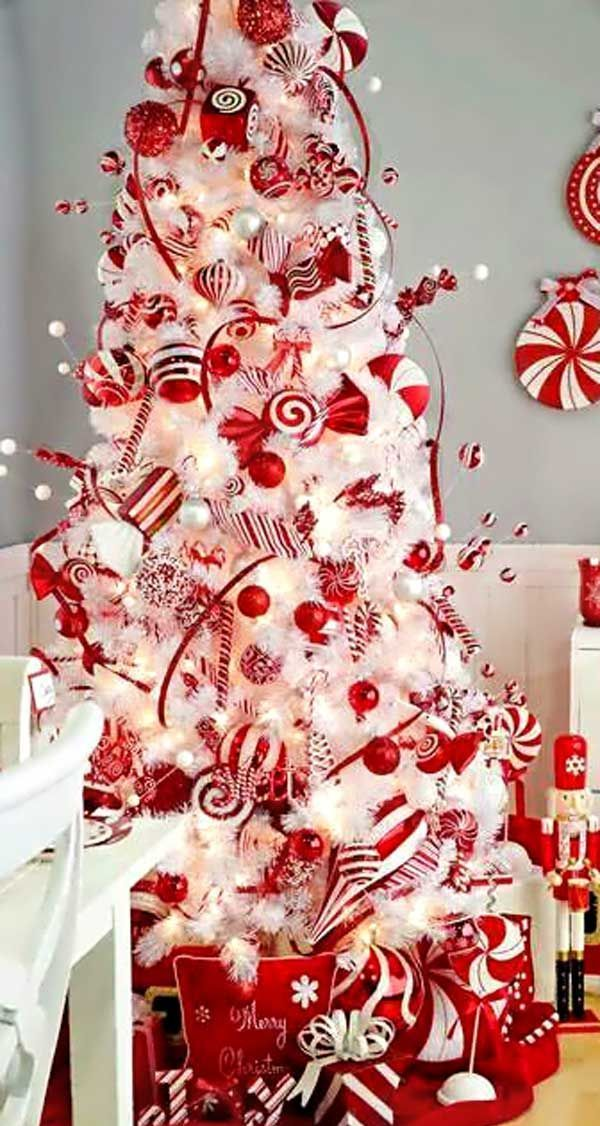 Candyland Christmas Tree Inspiration I Candycane Dream Christmas Tree  Inspiration
