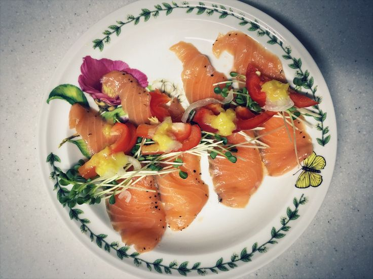 One day lunch  Salmon salad :)
