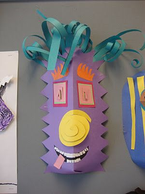 Paper Masks...we used to make masks once a year in elementary school when the fellers came!