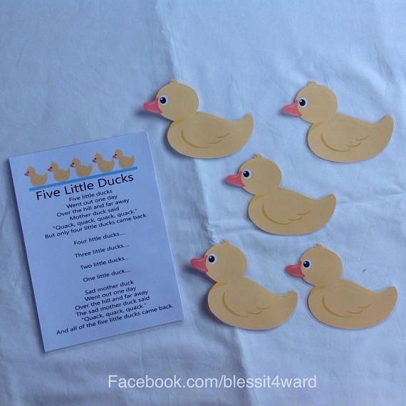 Five Little Ducks Rhyme sheet/ cards  display cards