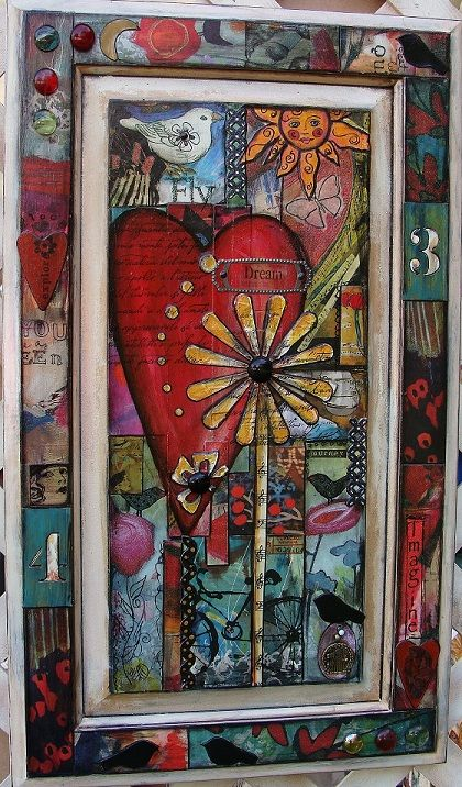 painting on a cupboard door