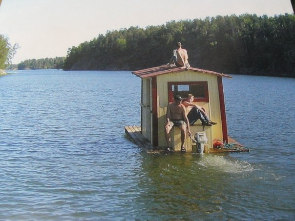 I've seen everything...a floating sauna! This truly is unreal! Summer, Sun, Swim & Sauna in Finland