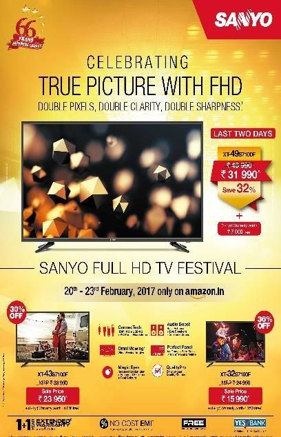 Celebrate the True Picture with #Sanyo Full HD TV Festival
