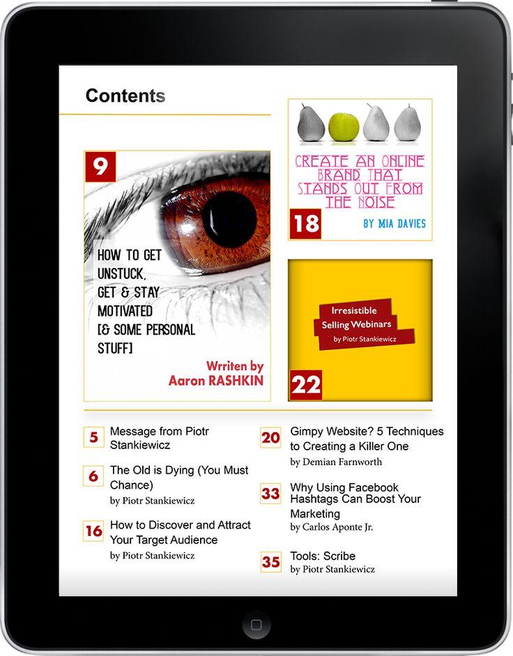 ValuedMarketer Magazine October 2013 contents. Download ValuedMarketer app on iTunes https://itunes.apple.com/us/app/valuedmarketer-magazine-become/id709724297?l=pl&ls=1&mt=8