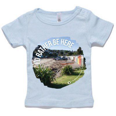 """Baby Clothing -  Baby T-Shirt - """"I'd Rather Be Here"""""""