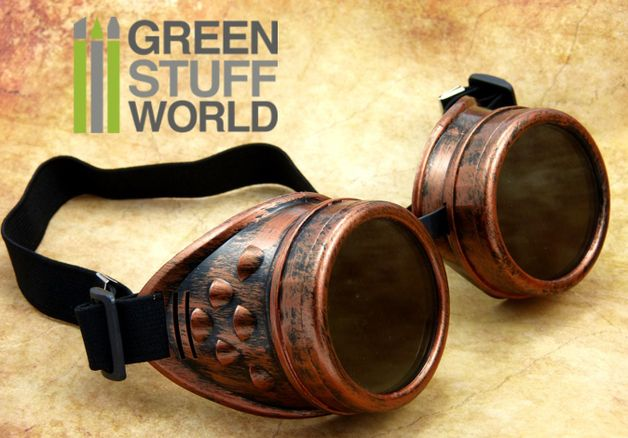 Steampunk Clothing – SteamPunk GOGGLES in COOPER - Victorian Vintage – a unique product by greenstuffworld on DaWanda