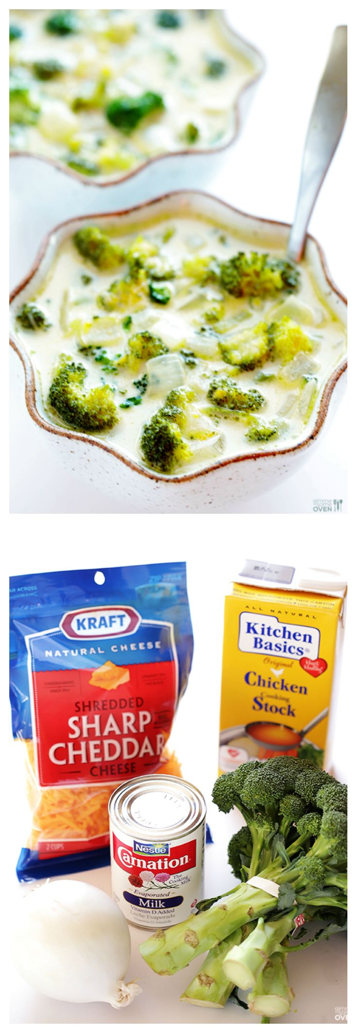 5-Ingredient Broccoli Cheese Soup -- super easy to make, and so warm and comforting!   gimmesomeoven.com #soup