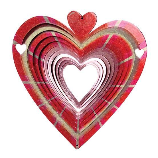 Mooie hartvormige windspinner die mooi zal schitteren in het licht. Bestel bij de webwinkel met het grootste assortiment.
