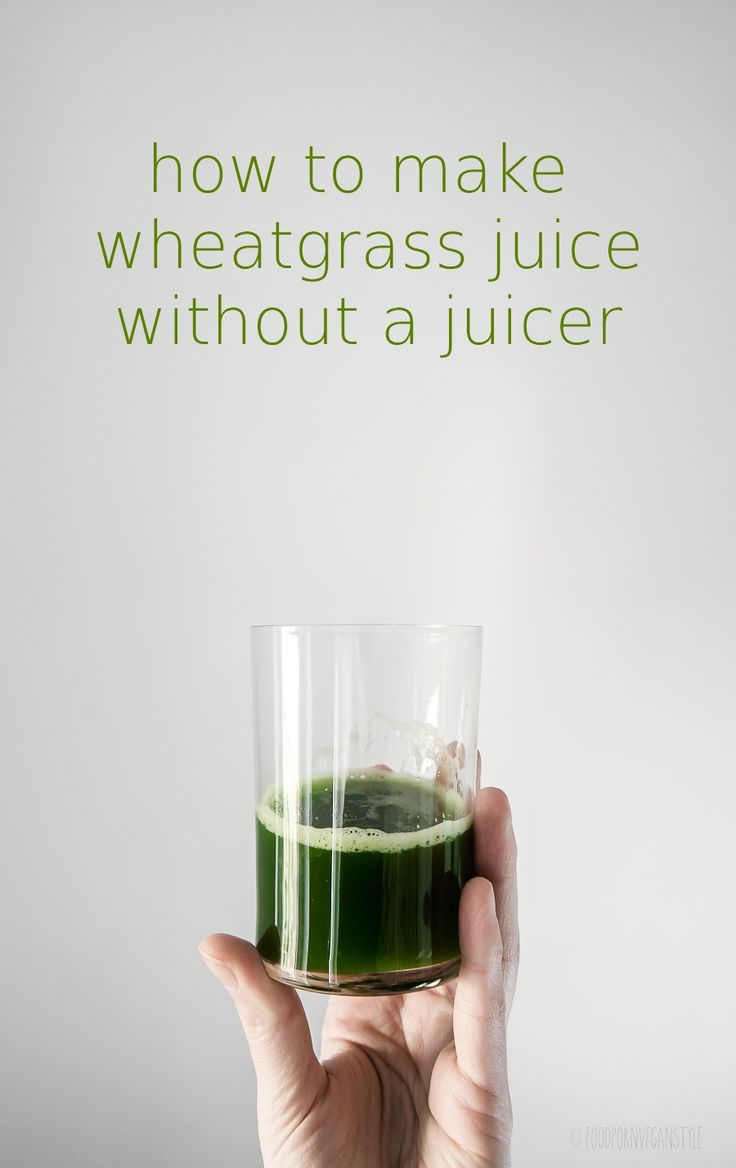 Easy step-by-step guide on how to make whatgrass juice without a juicer.