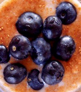 Gezond ontbijt: Overnight Oats met bosbessen
