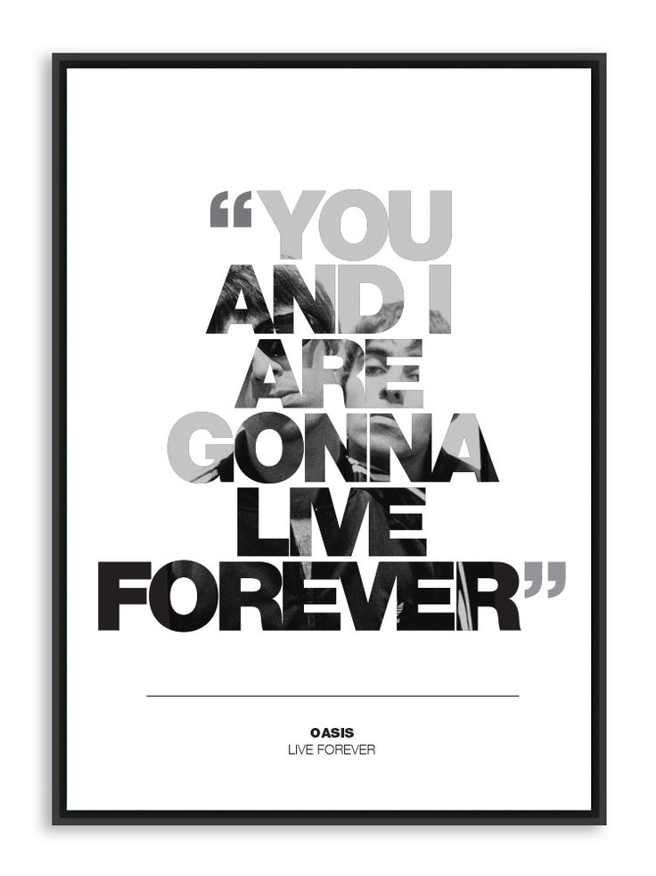 Oasis Live Forever poster print #oasis #music #noelgallagher #liamgallagher