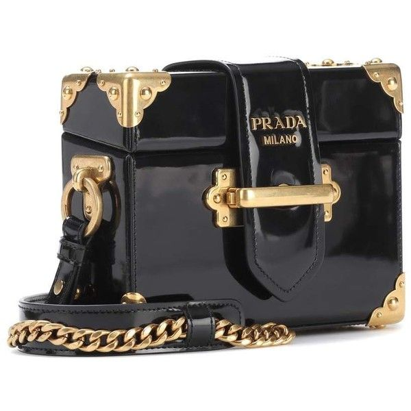 e625e684bbad Prada Cahier Patent Leather Shoulder Bag ( 2