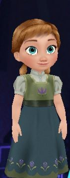 Little Anna from the new Disney Frozen App 'Free Fall'