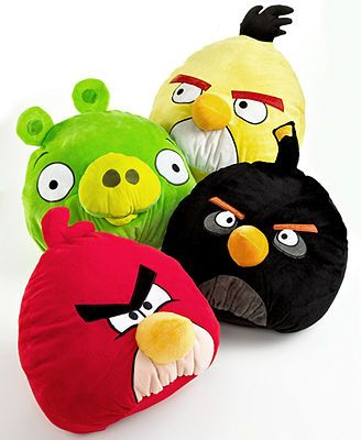 "CLOSEOUT! Angry Birds Bedding, Pot Belly 12"" Decorative Pillows"