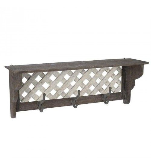 WOODEN WALL HANGER IN BROWN COLOR 70X15X25