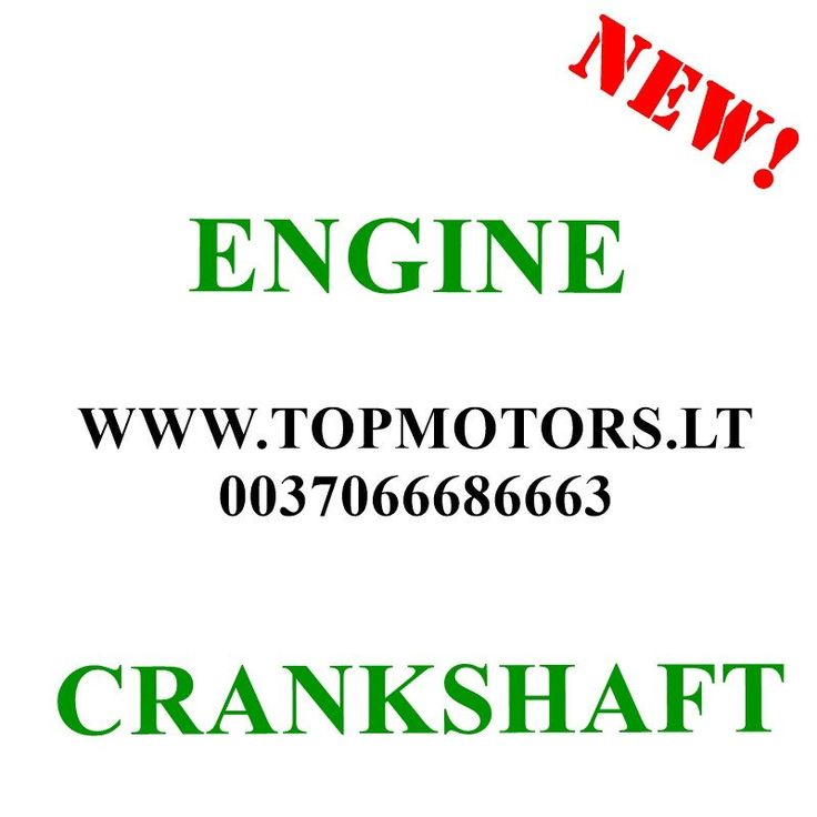 MB VITO / VIANO / SPRINTER / C-CLASS / E-CLASS  1997 1998 1999 2000 2001 2002 2003 2004 2005 2006  2.2 CDI DIESEL / 75 KW 611 / OM 611  NEW ENGINE CRANKSHAFT
