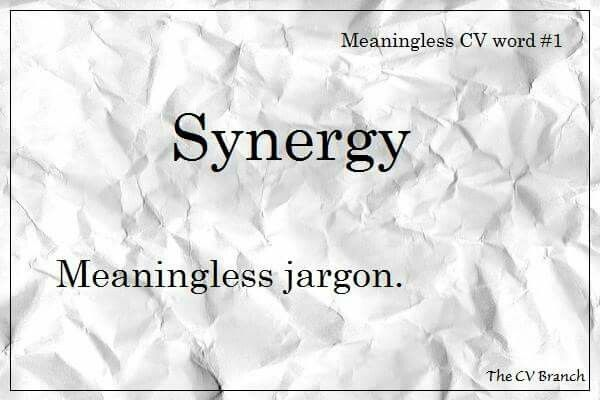 Words that you shouldn't use on your CV.  #TheCVBranch #professionalCVwriting #editor