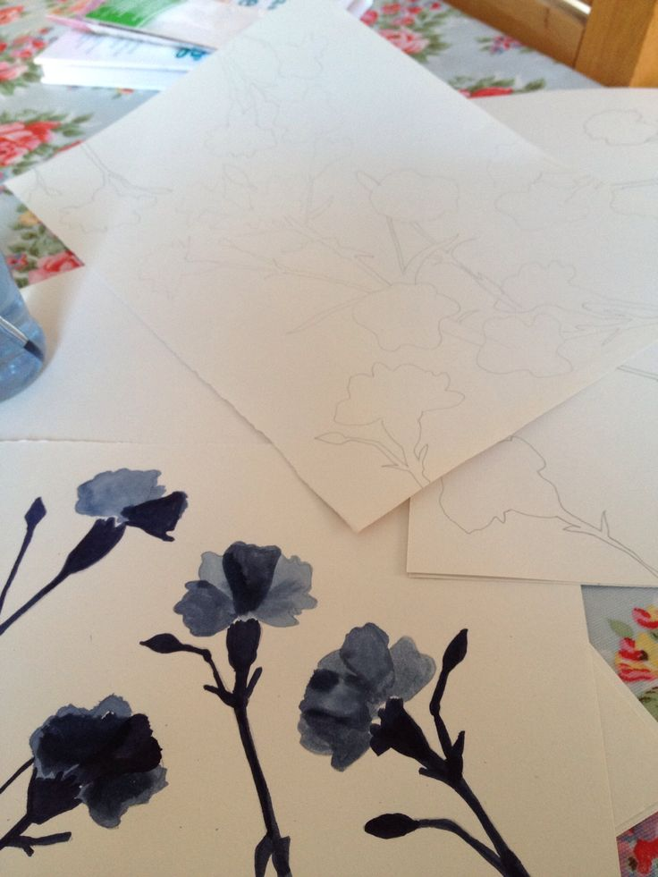 Painting in floral designs with disperse dye