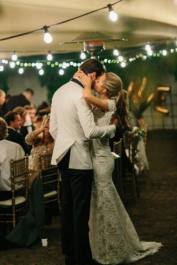 Romantic wedding reception moment captured by Therese Winberg