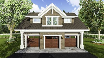 3 Car Garage Apartment with Class - 14631RK thumb - 01