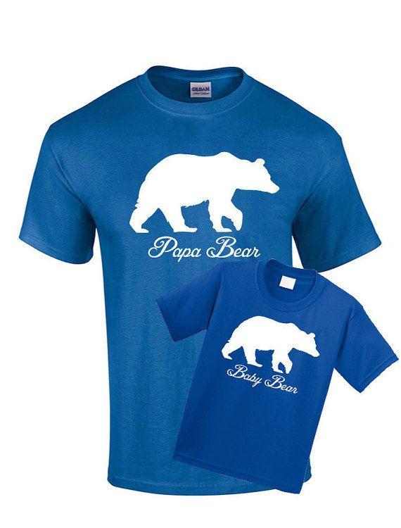 Matching Shirts Papa Bear Baby Bear Shirt Son by CoolTeesOnline