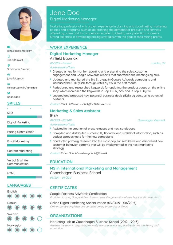 Best Resume Formats for 2020 [3+ Professional Templates