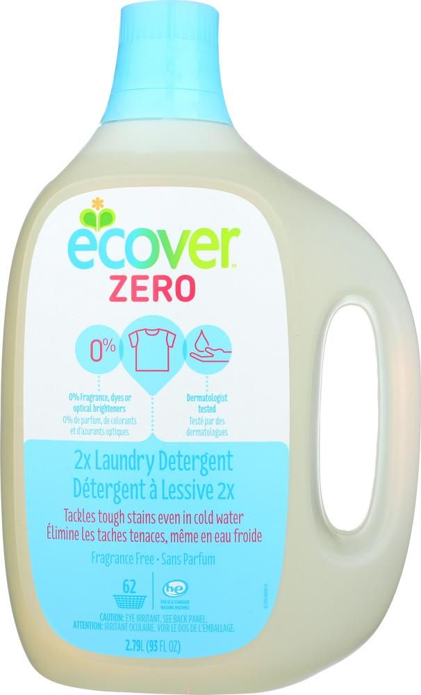Ecover Zero Laundry Detergent 2x Concentrated 62 Loads Unscented