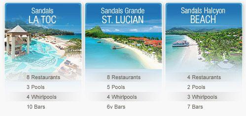 Sandals La Toc St. Lucia Highlight 4  St. Lucia is wonderful!