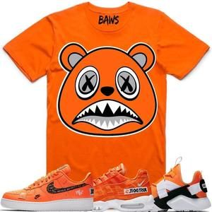 003aca0b67fca Baws T-Shirt ORANGE BAWS Sneaker Tees Shirt - Nike Air Just Do It