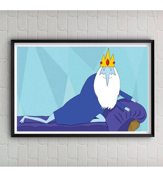 Adventure Time Ice King 11x17 Seinfeld Inspired Print - Ice King Art - Adventure Time Poster - Adventure Time Ice King Print by CaptainsPrintShop on Etsy https://www.etsy.com/listing/199437665/adventure-time-ice-king-11x17-seinfeld