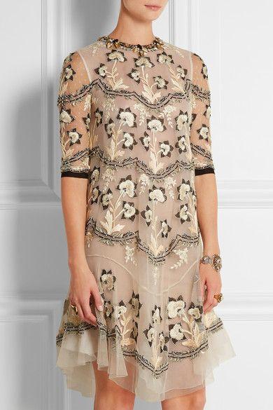 Biyan   Lolita embellished tulle dress   NET-A-PORTER.COM