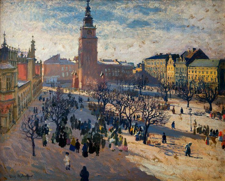 Kraków's old town market square by Józef Mehoffer, 1903 (PD-art/70), Muzeum Narodowe w Krakowie (MNK)
