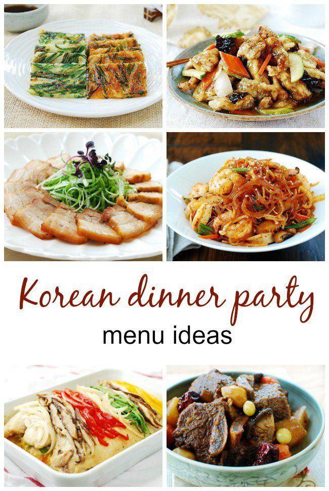 Menus For Korean Dinner Parties Dinner Party Menu Dinner
