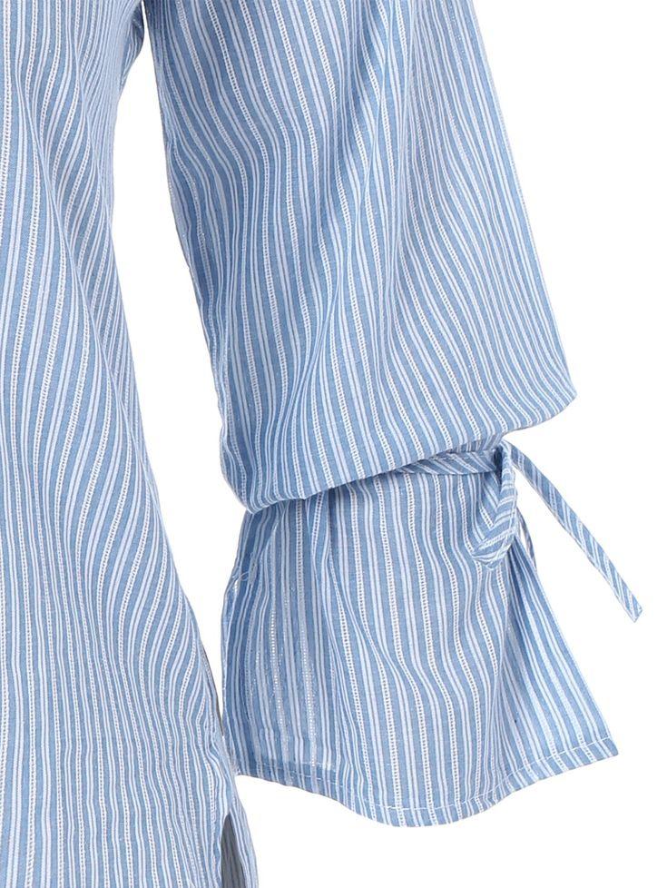 Plus Size Stripe High Low Blouse 5