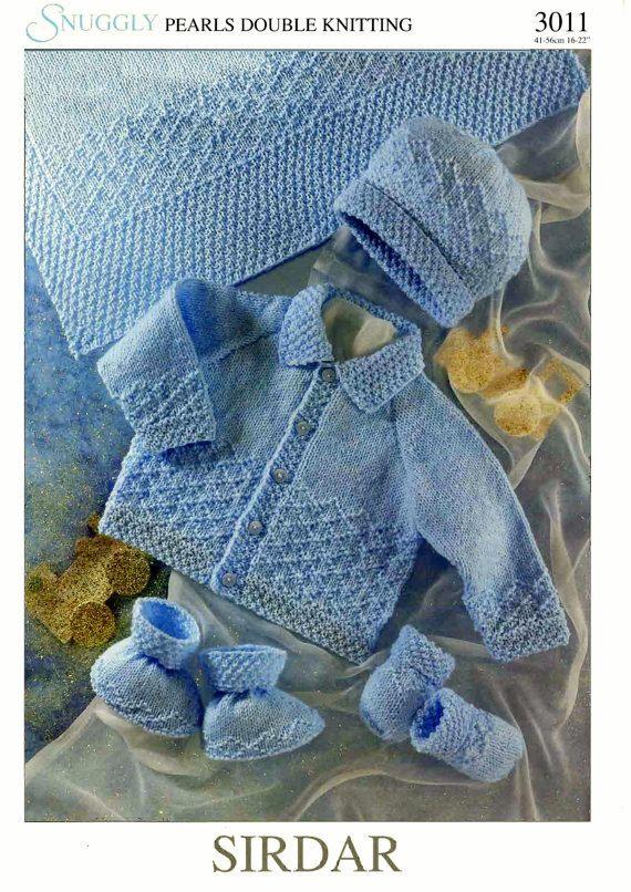 Baby Knitting Pattern  Matinee Jacket Bootees Hat by carolrosa, $1.78