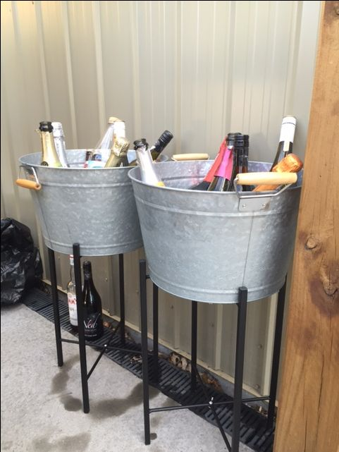 Great way to keep your drinks cold but still have your theme going on! #event #decor