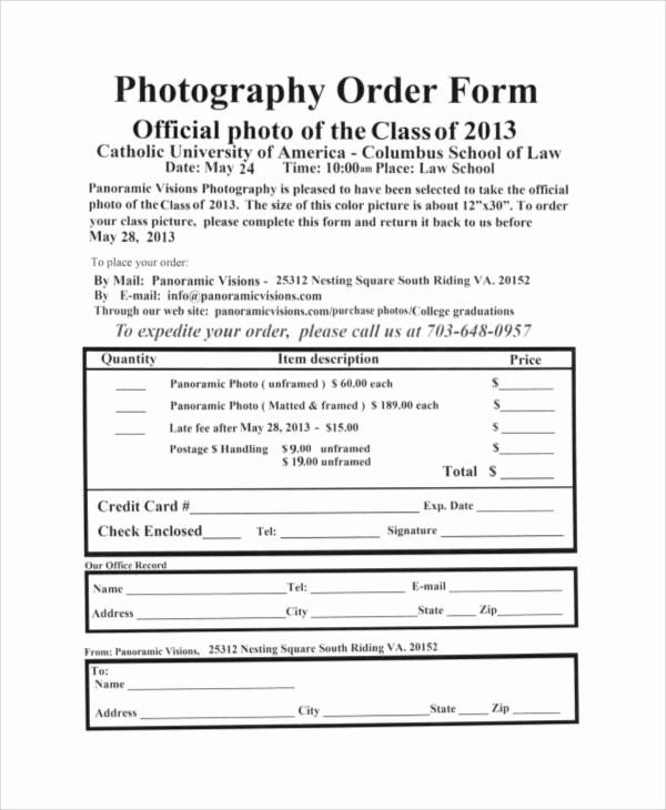 Photography Order Form Template Word Inspirational 8 Free Printable Order Form Samples In 2020 Photography Order Form Order Form Template Free Order Form Template