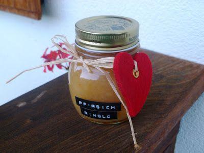 leckere Pfirsich-Ringlo Marmelade